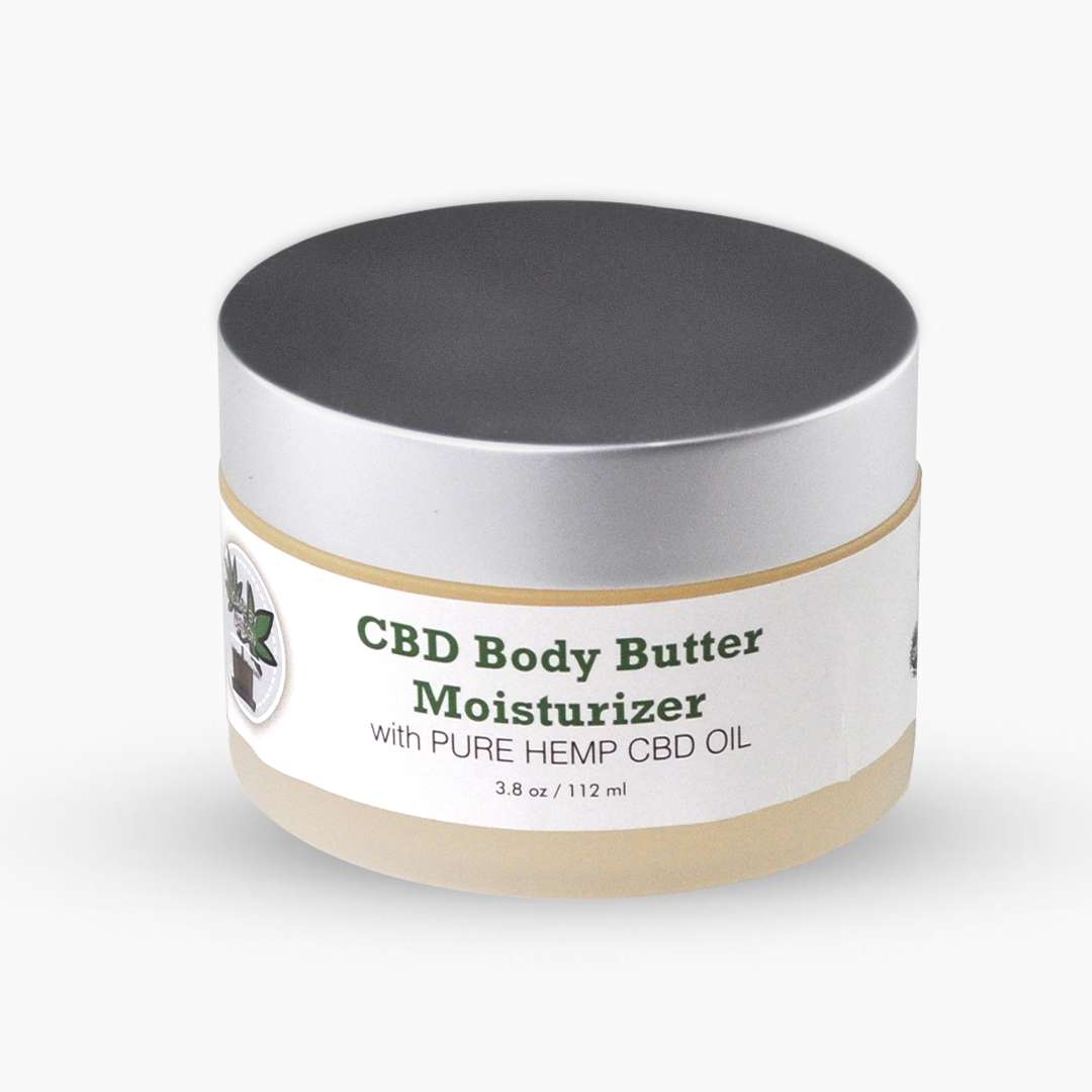 container of cbd body butter