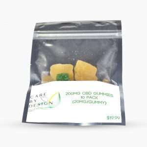 10 pack bag of 200ml edible cbd gummies