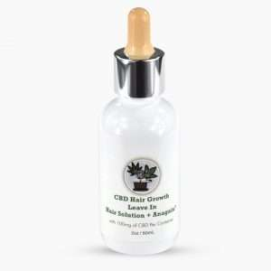 bottle of leave in cbd hair growth solution