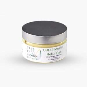 contanier of cbd intensive pain relief rub topical
