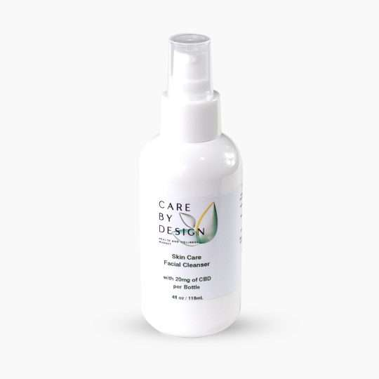 spray bottle of skin care cbd facial cleanser